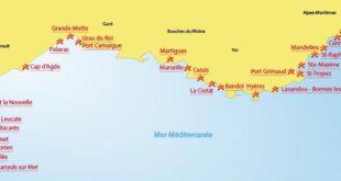 Carte plages de France