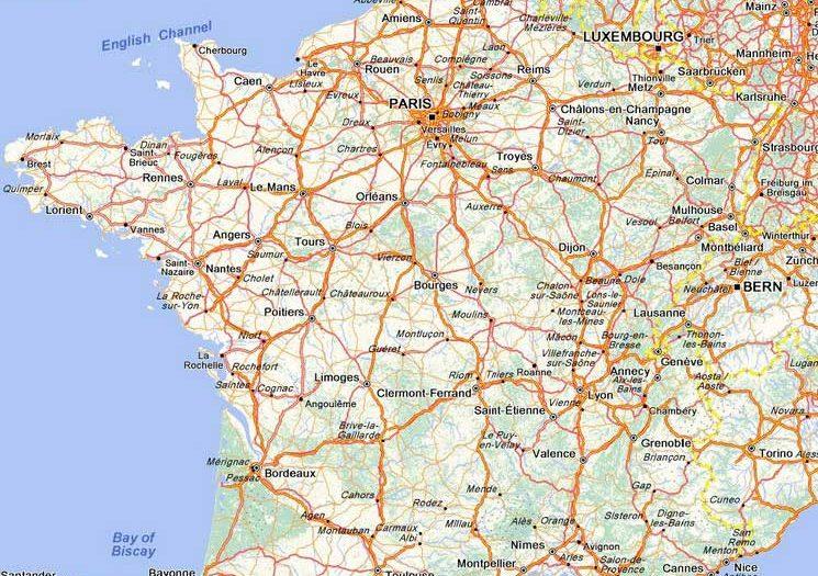 Carte routière de France