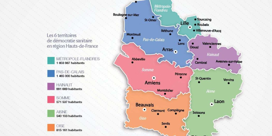 Hauts de France - Carte