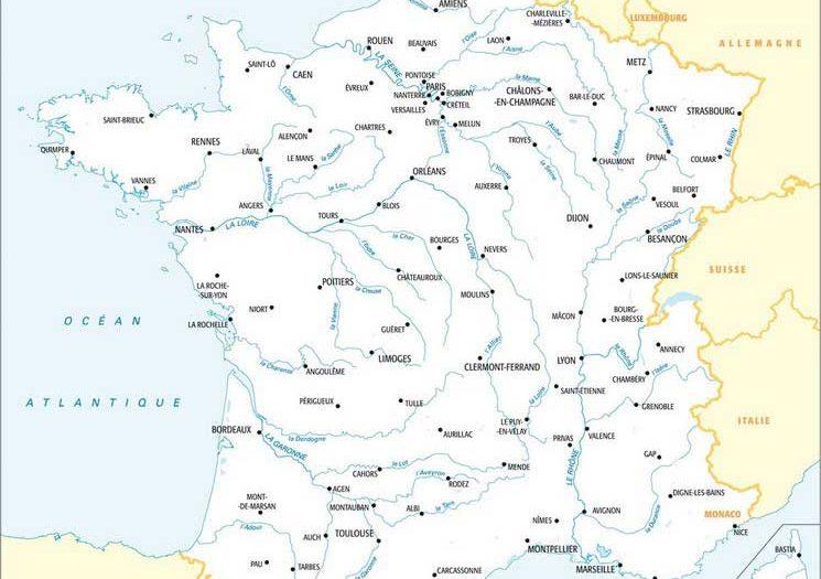 Carte de France - Fleuves