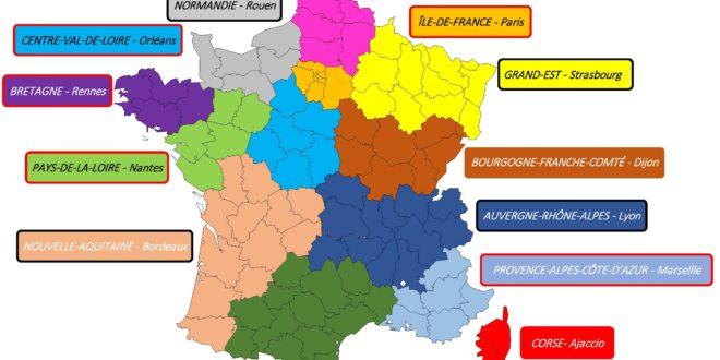 Carte France Régions