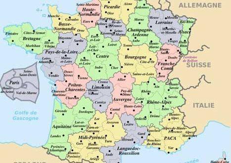 carte de france villes principales et regions Régions de france » Vacances   Arts  Guides Voyages