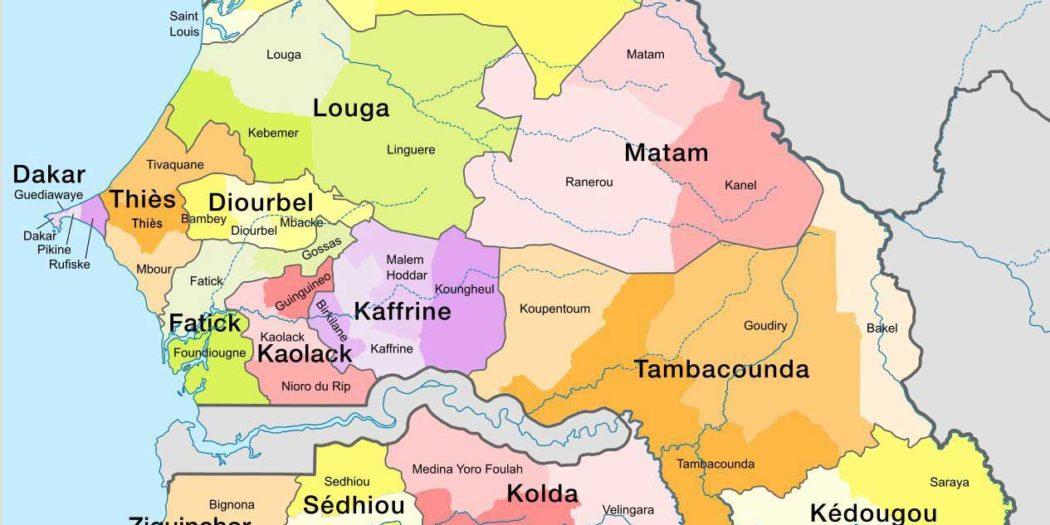Carte du Sénégal
