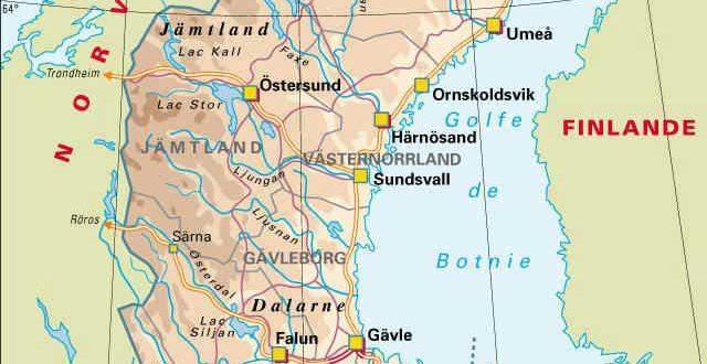 Suède - Carte