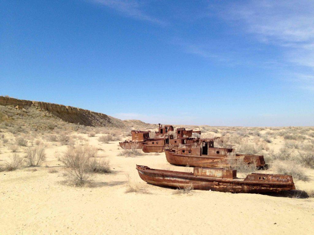 La mer d'aral à sec