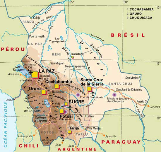 Bolivie - Carte