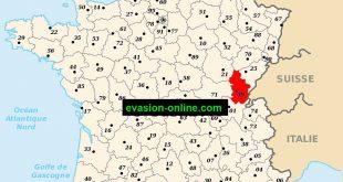 Jura département - carte
