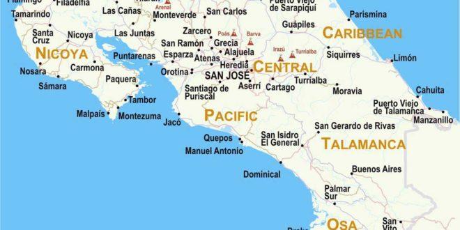 Costa Rica - Carte