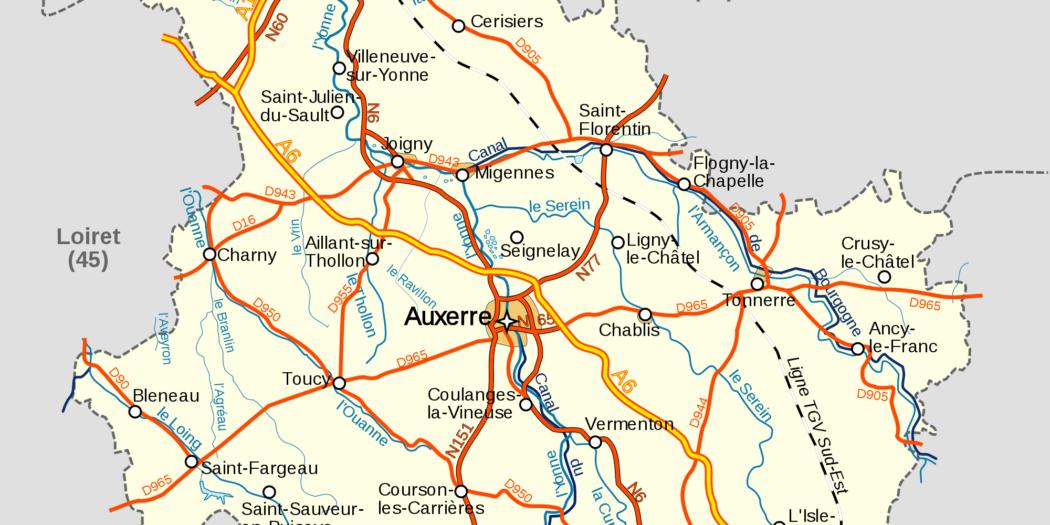 Yonne carte