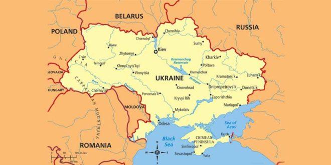 Carte d'Ukraine