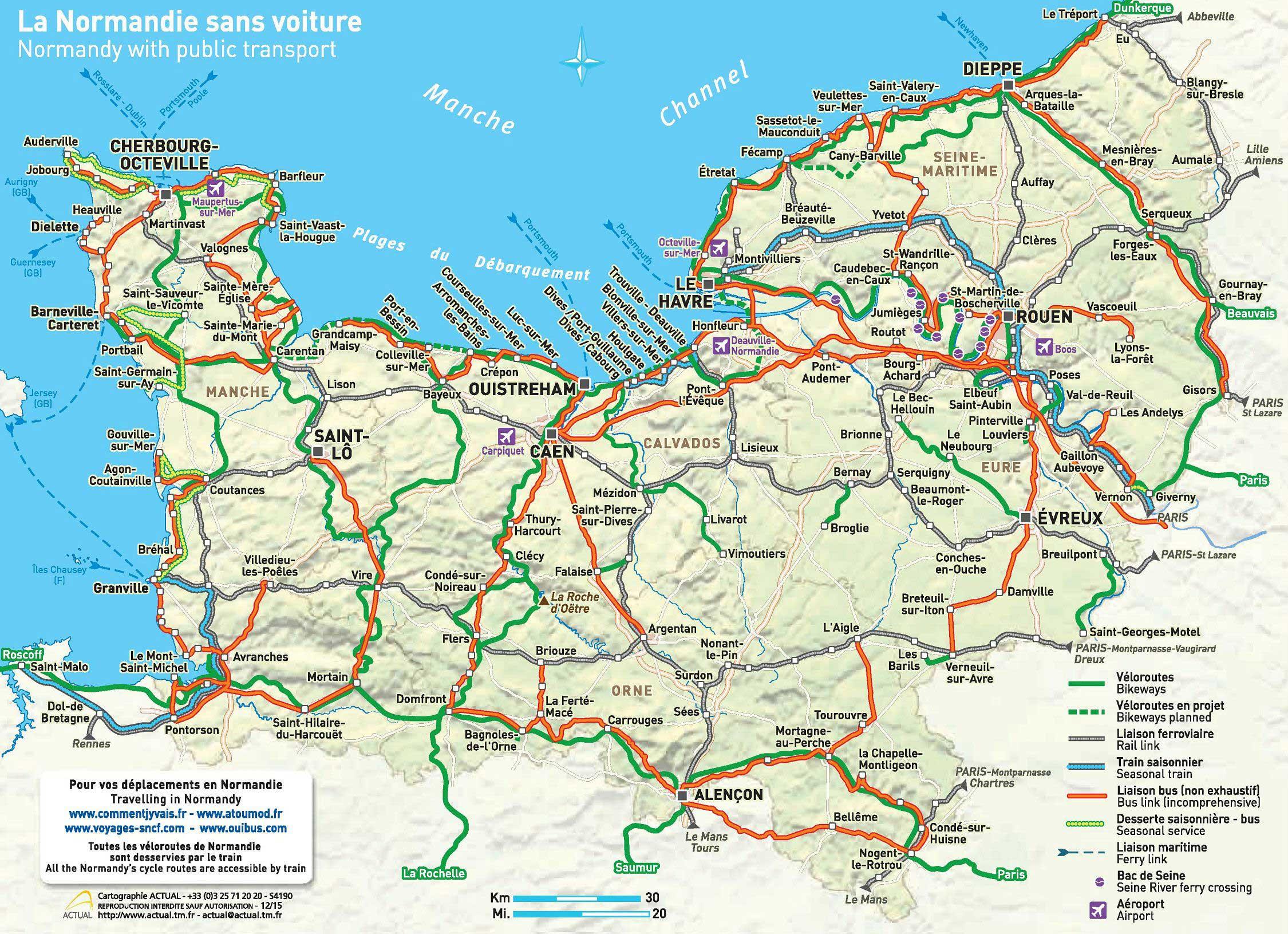 Carte De La Normandie Vacances Guide Voyage