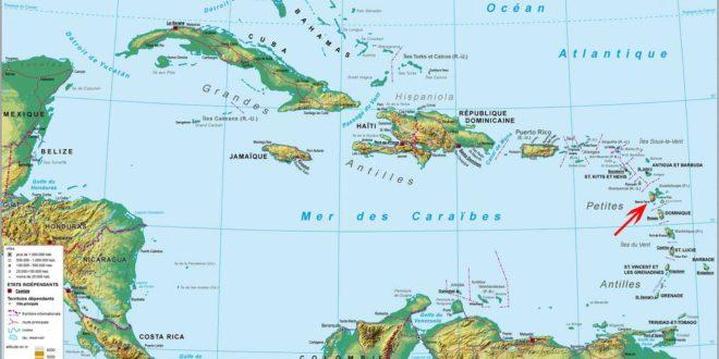 Guadeloupe-Carte du monde