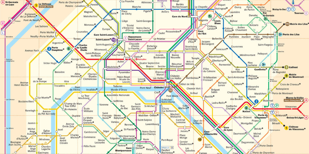 Plan métro Paris