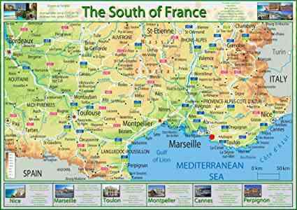 le sud de la france carte
