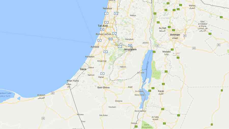 Palestine carte Google Maps