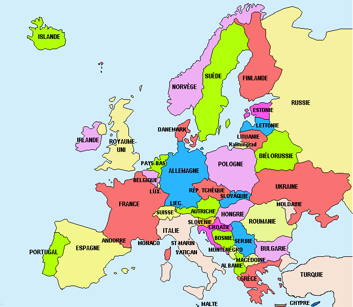 carte d europe images et photos