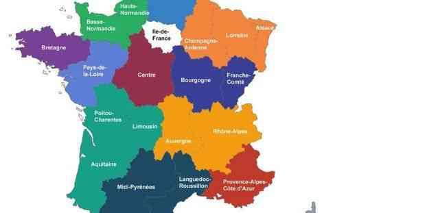carte de france 13 regions