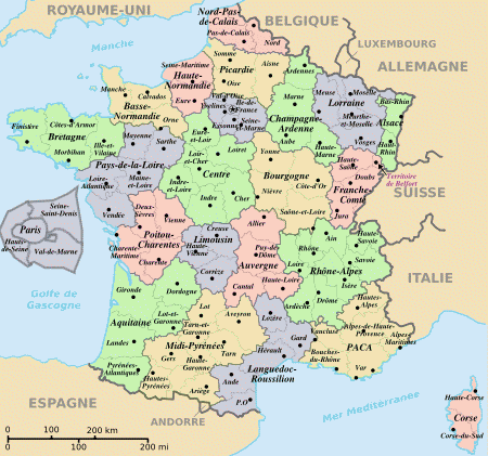 carte de la corse region de france
