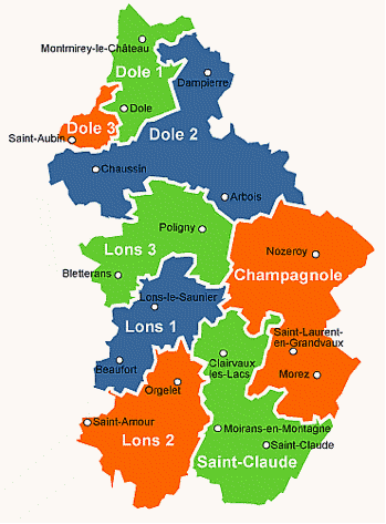 carte departement jura