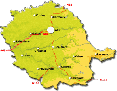 carte departement tarn