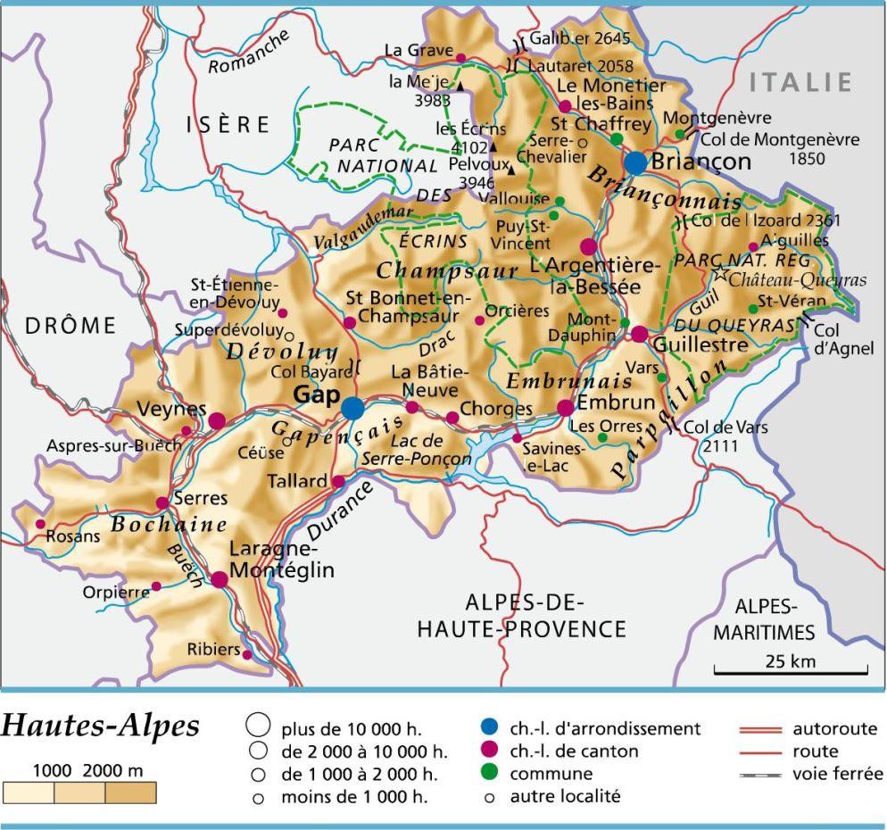 carte hautes alpes