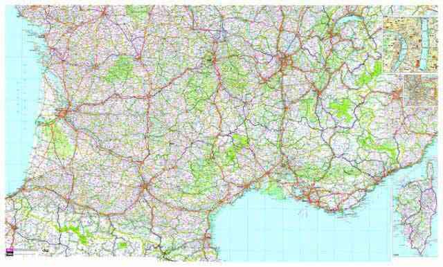 Carte Routiere Du Sud De La France Détaillée France Carte