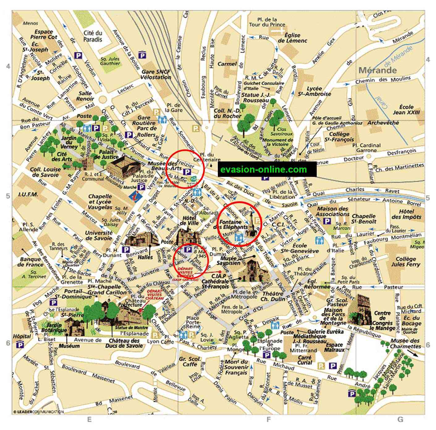 carte ville de chambery
