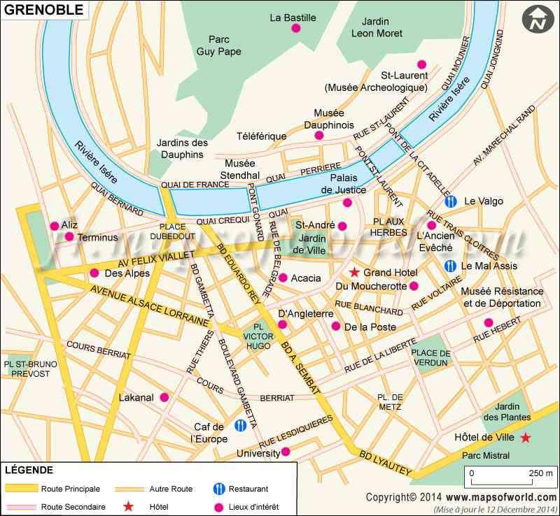 carte ville de grenoble