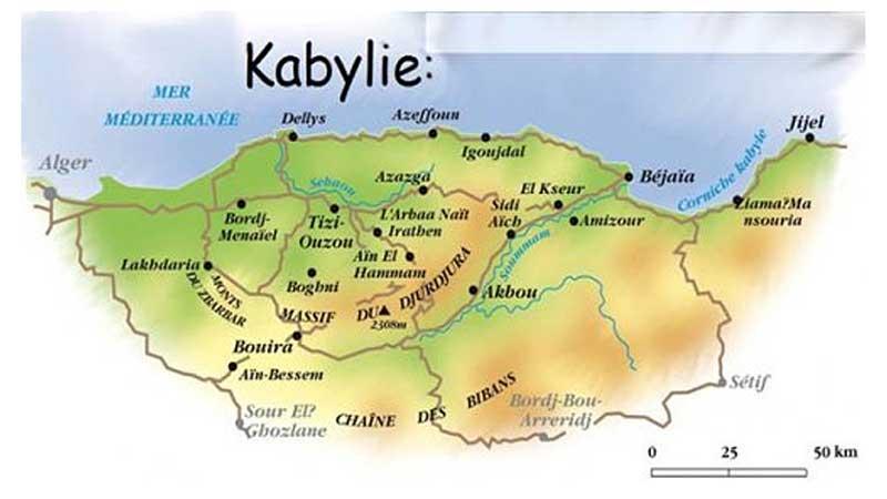 Carte Kabylie Detaillee.La Kabylie Vacances Arts Guides Voyages