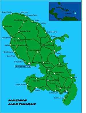 le pays nord de martinique
