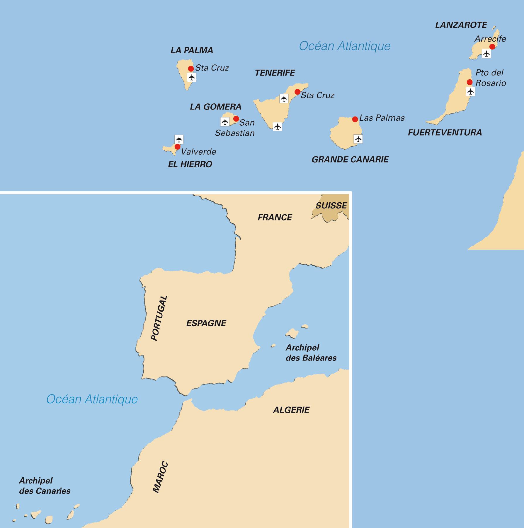 Bien connu Les îles Canaries » Vacances - Arts- Guides Voyages CV22