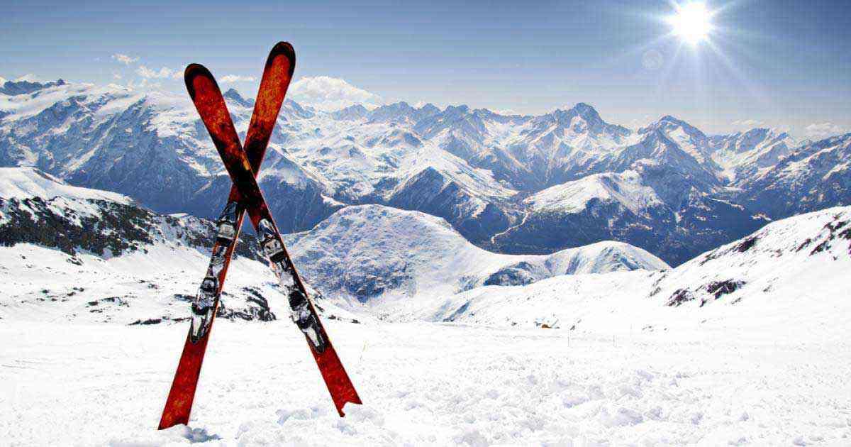 montagne neige et ski
