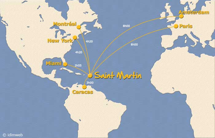saint barthelemy carte du monde