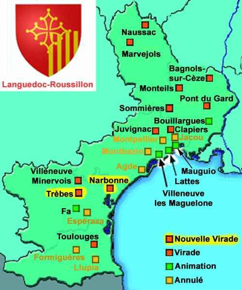 principales villes du languedoc roussillon