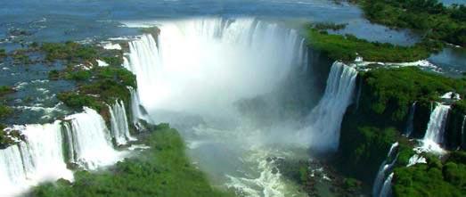 Chutes de Iguacu vue du ciel