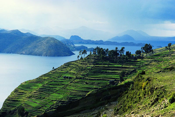 bolivie lac-titicaca vue du ciel