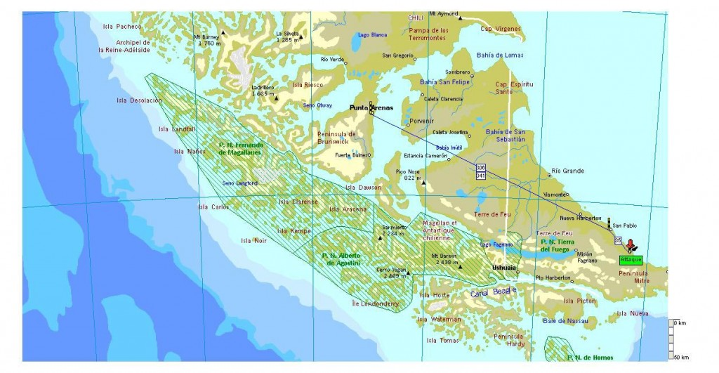 Carte Terre de feu