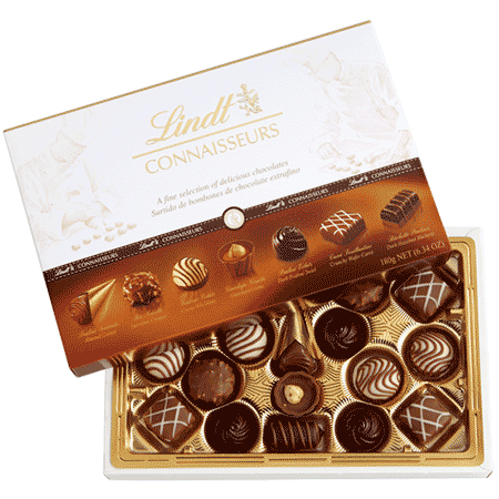 Chocolats Lindt Connaisseurs 450 gr