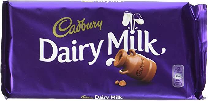 Tablette de Chocolat Cadbury