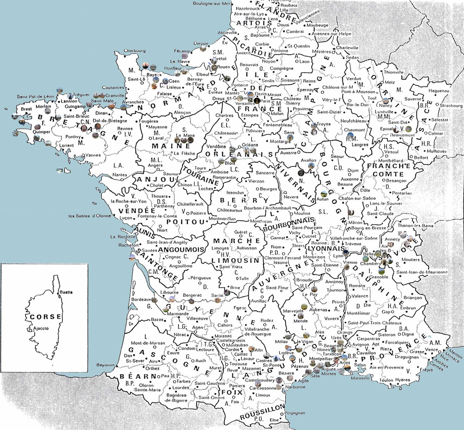 Carte France villes » Vacances - Arts- Guides Voyages