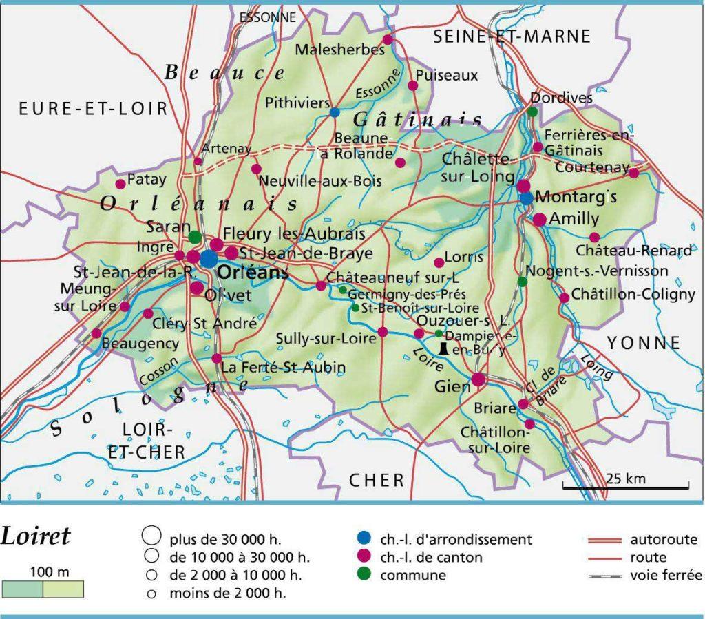 Carte - Département du Loiret