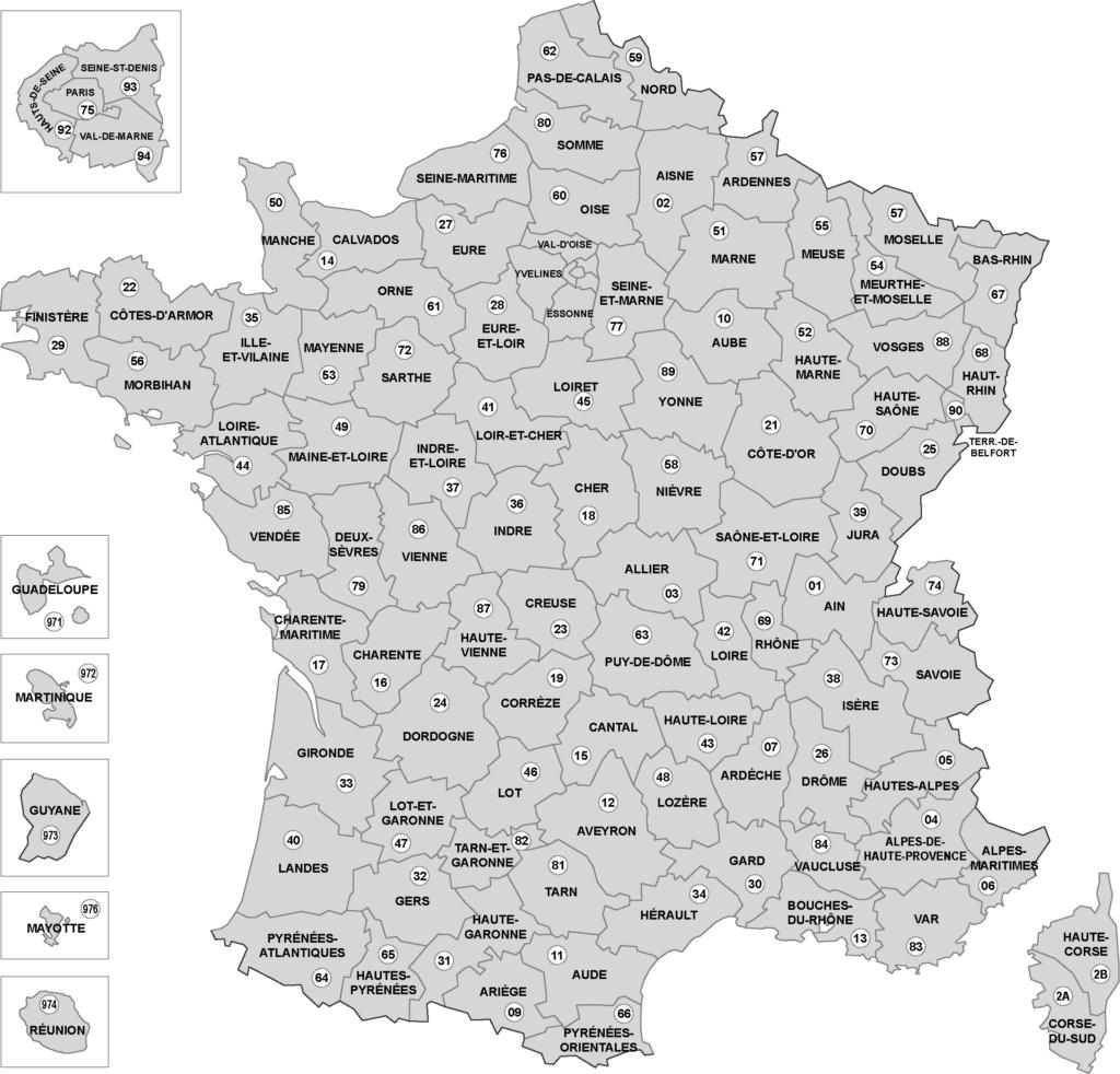 Carte France - département avec nom