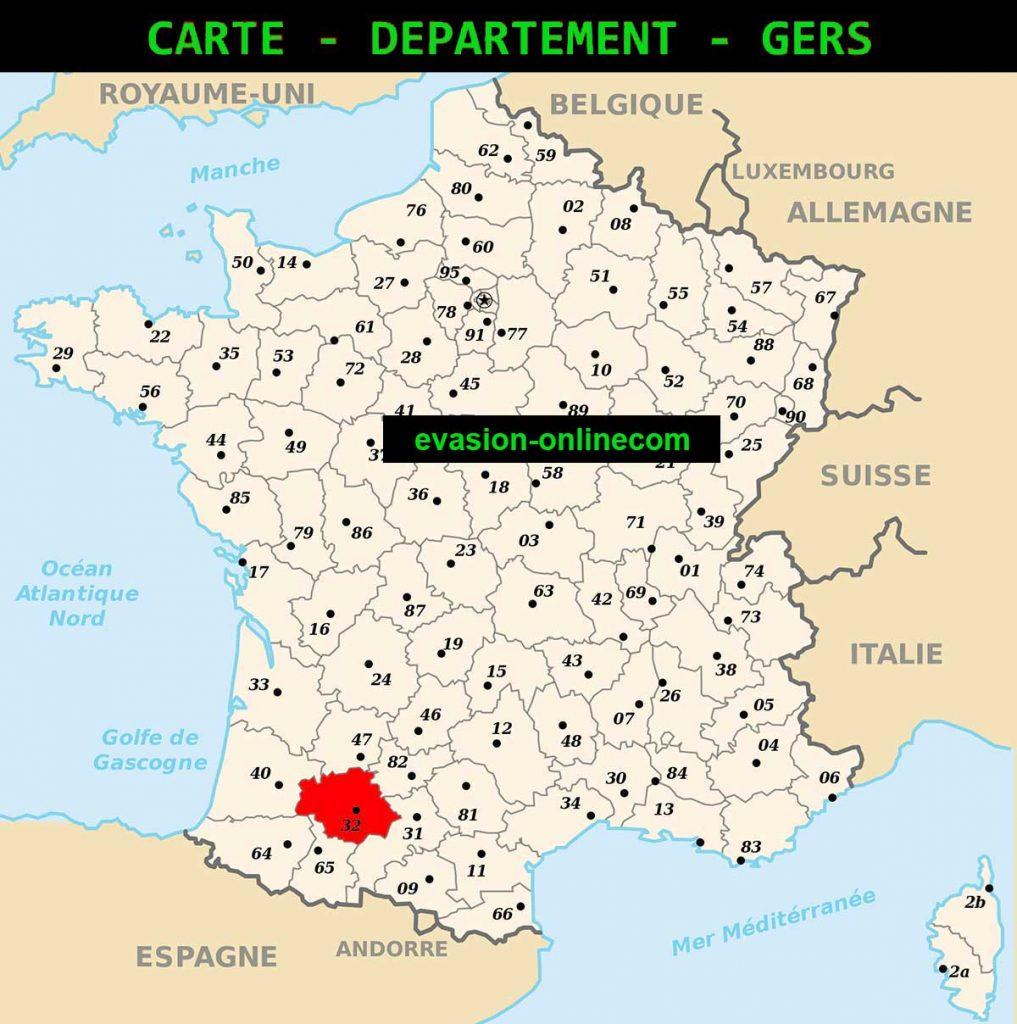 Gers - Carte de France