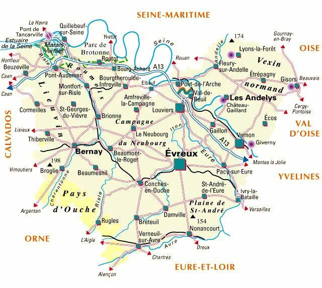 Carte du département 27