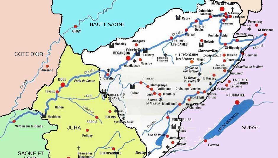 Carte du Doubs