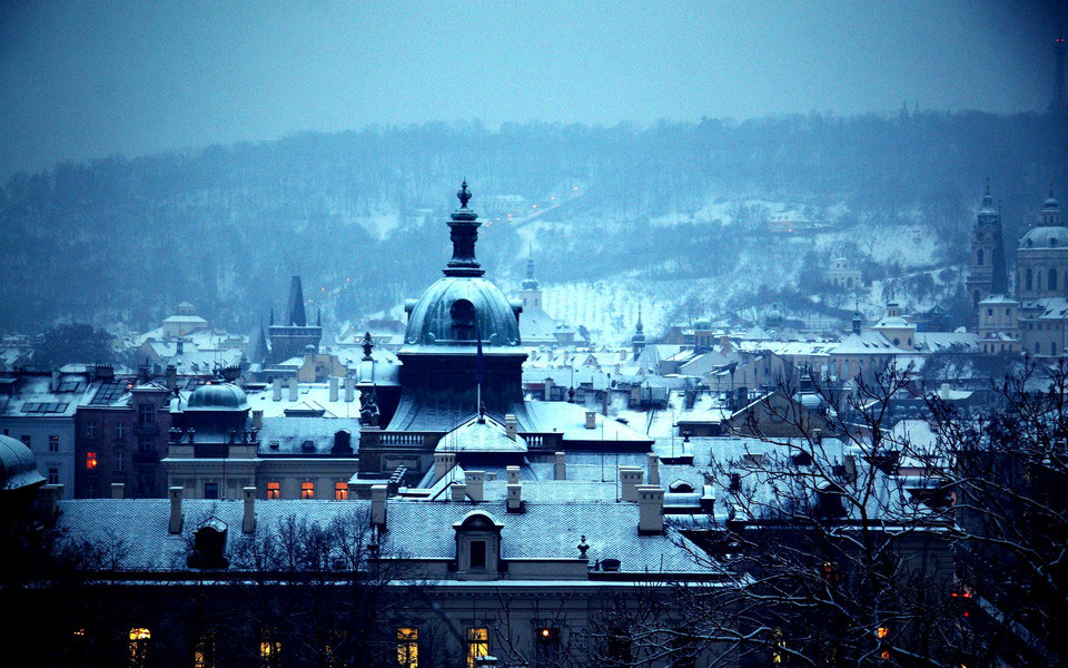 Photo de Prague sous la neige