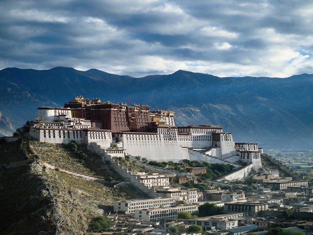 Photo d'un temple au TIbet