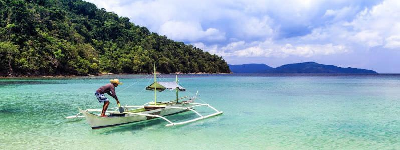 Une plage aux Philippines