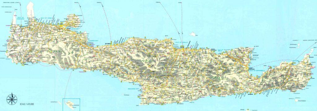 Crète - carte détaillée