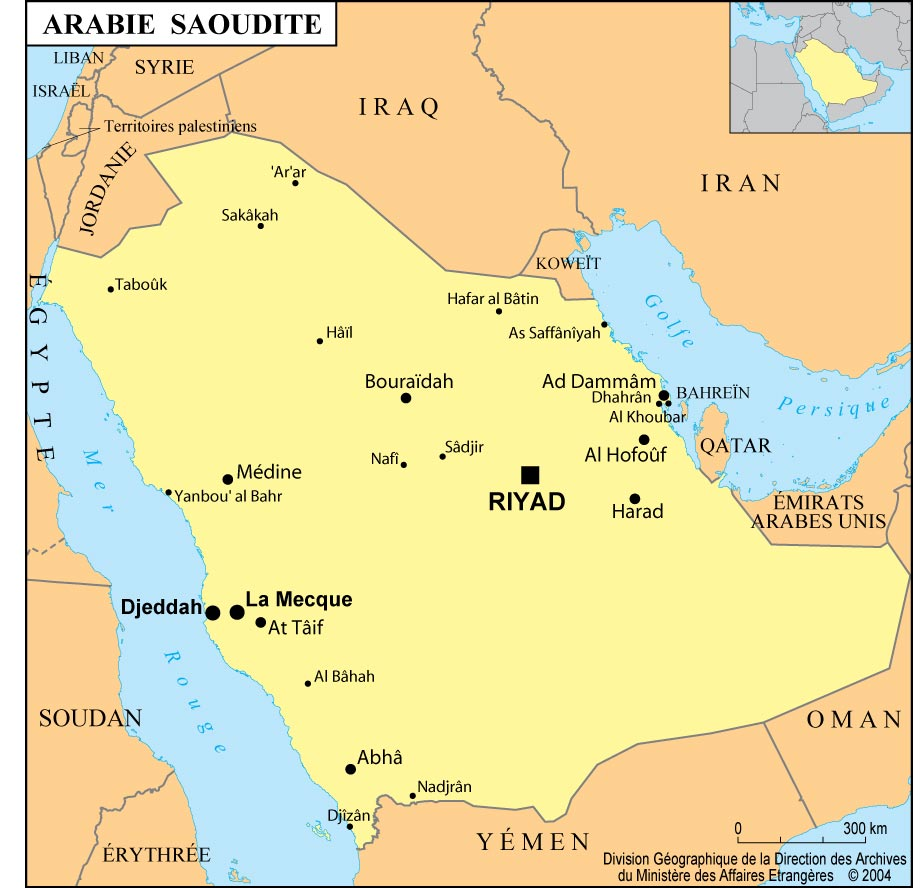 Arabie Saoudite Carte
